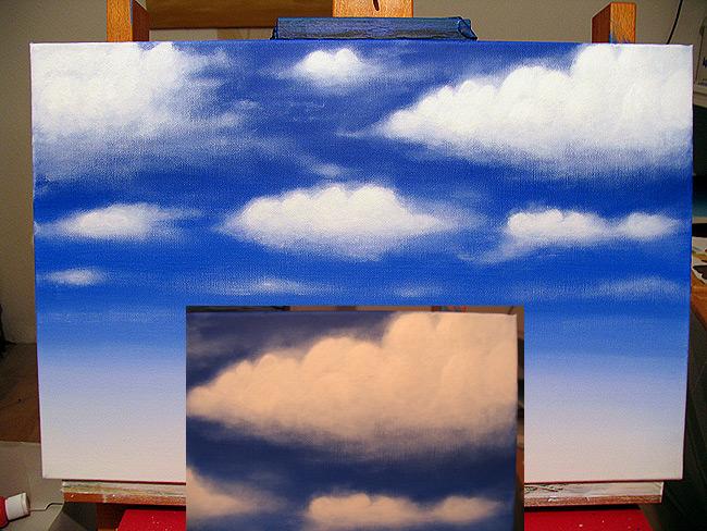 Wolken malen acryl h user immobilien bau - Malen mit acryl auf leinwand ...